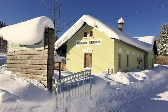Ferienhaus Wienerbruck im Winter